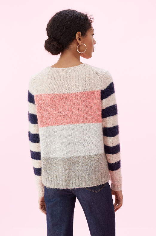 La Vie Soft Textured Stripe Pullover