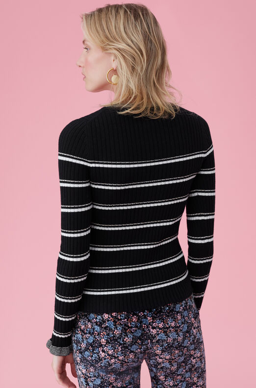 La Vie Stripe Cozy Cotton Pullover