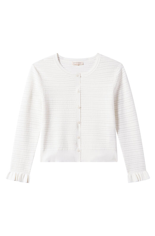 Pointelle Mix Cardigan