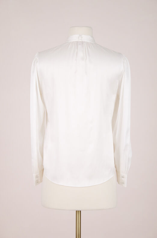 ReCollect Silk Tie Neck Top