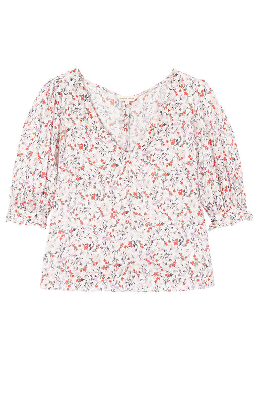 Lyra Floral Hammered Silk Top