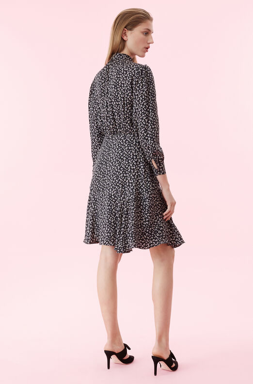 Mini Cheetah Silk Jacquard Dress