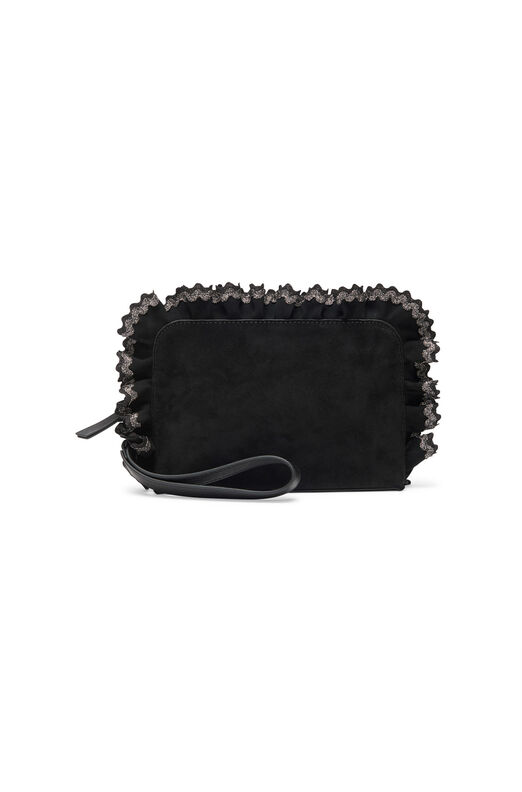 Loeffler Randall Attaché Clutch - Black/Sparkle