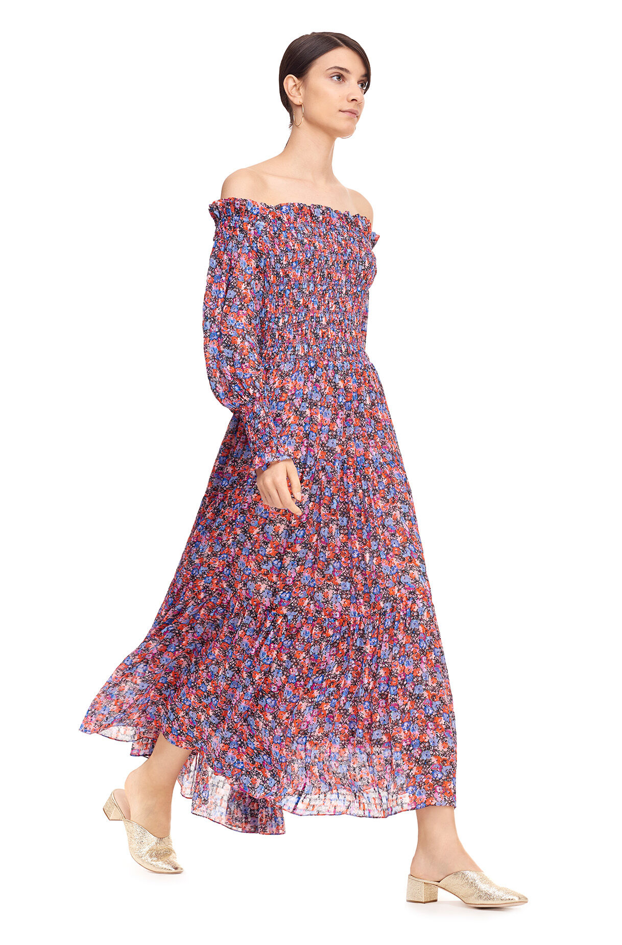 8122fd524278 ... Off-The-Shoulder Cosmic Fleur Print Dress ...