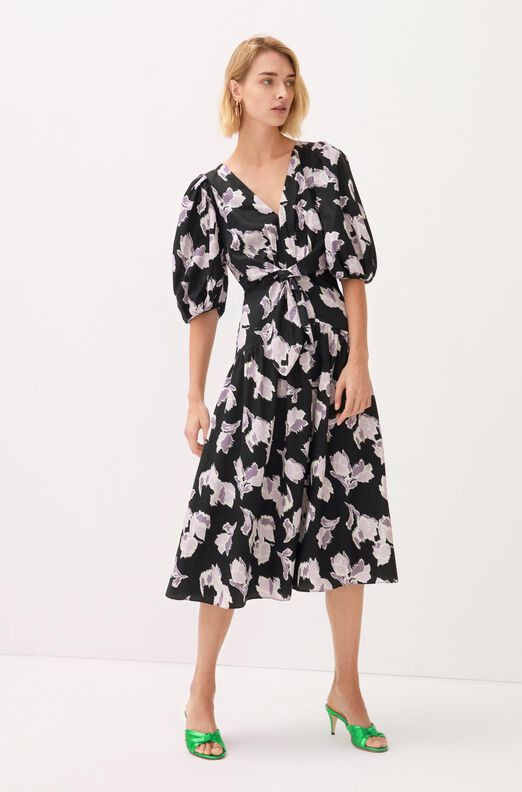 Ikat Blossom Cotton Dress