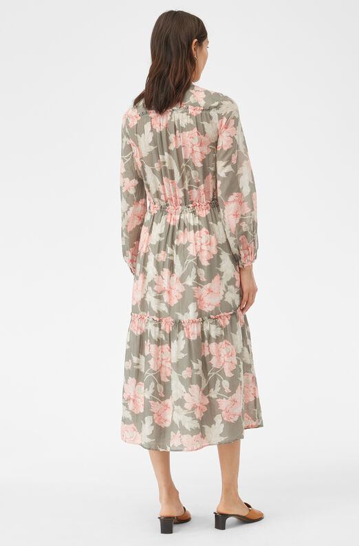 La Vie Peonies Voile Dress