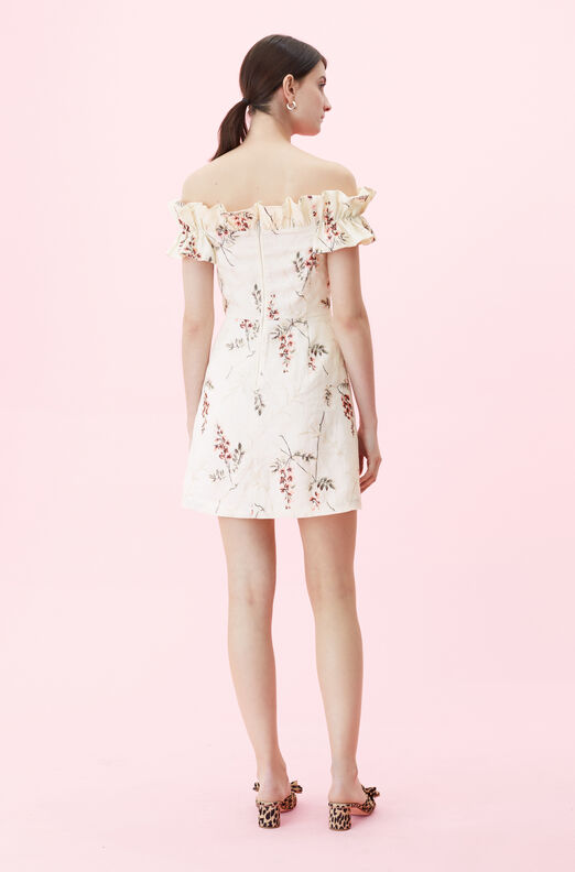 Off-The-Shoulder Ivie Fleur Embroidered Dress