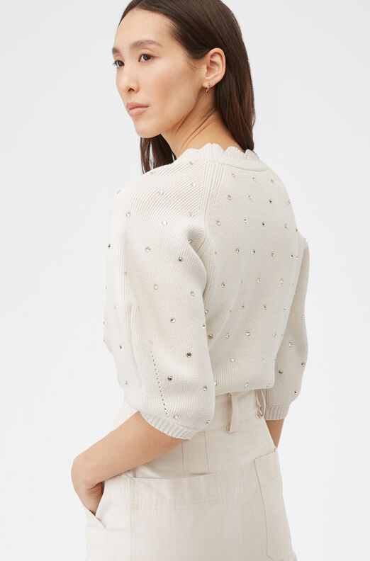 Embellished Cotton Pullover