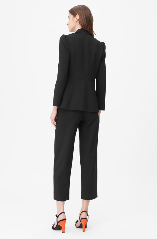 Tailored Clean Suiting Blazer, Black, large