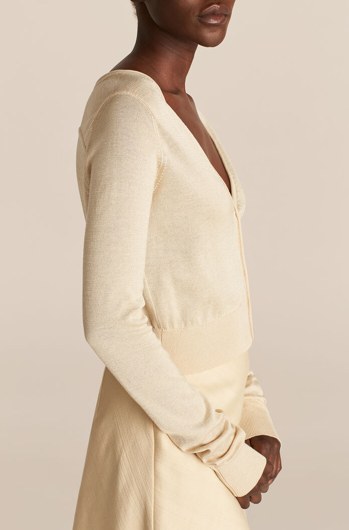 Barely There Cardigan, Straw, large