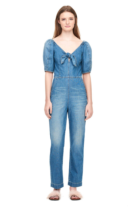 La Vie Drapey Denim Jumpsuit - Artist Wash