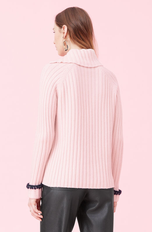 Cozy Ribbed Pullover, Champagne Pink, large