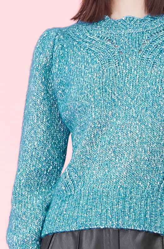 Tweedy Yarn Pullover