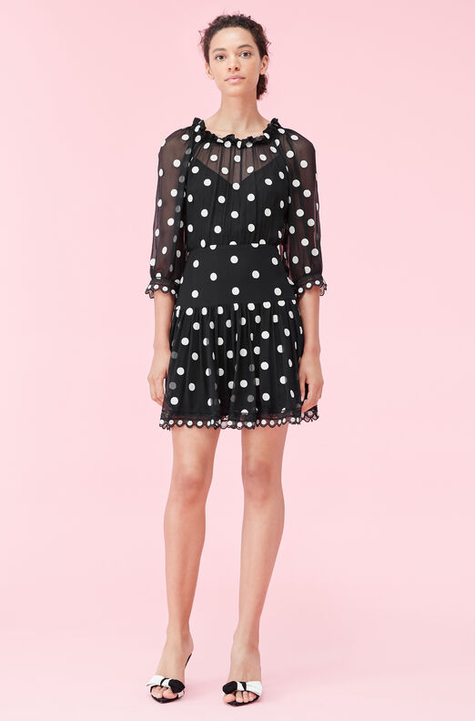 Dot Embroidered Dress
