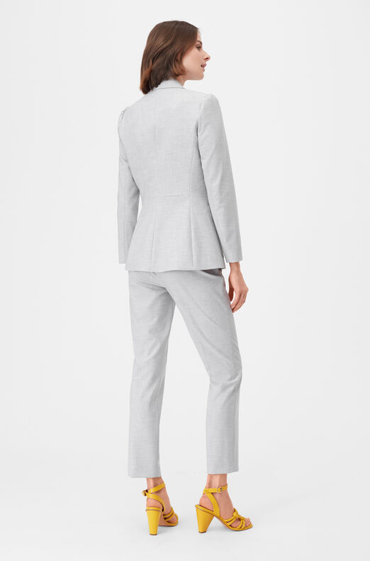 Tailored Clean Suiting Blazer, Light Heather Grey, large