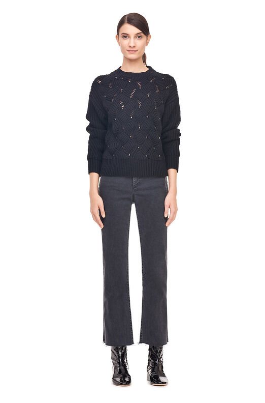Embellished Pullover - Black