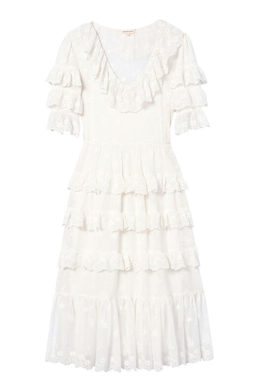Dree Embroidered Ruffle Dress