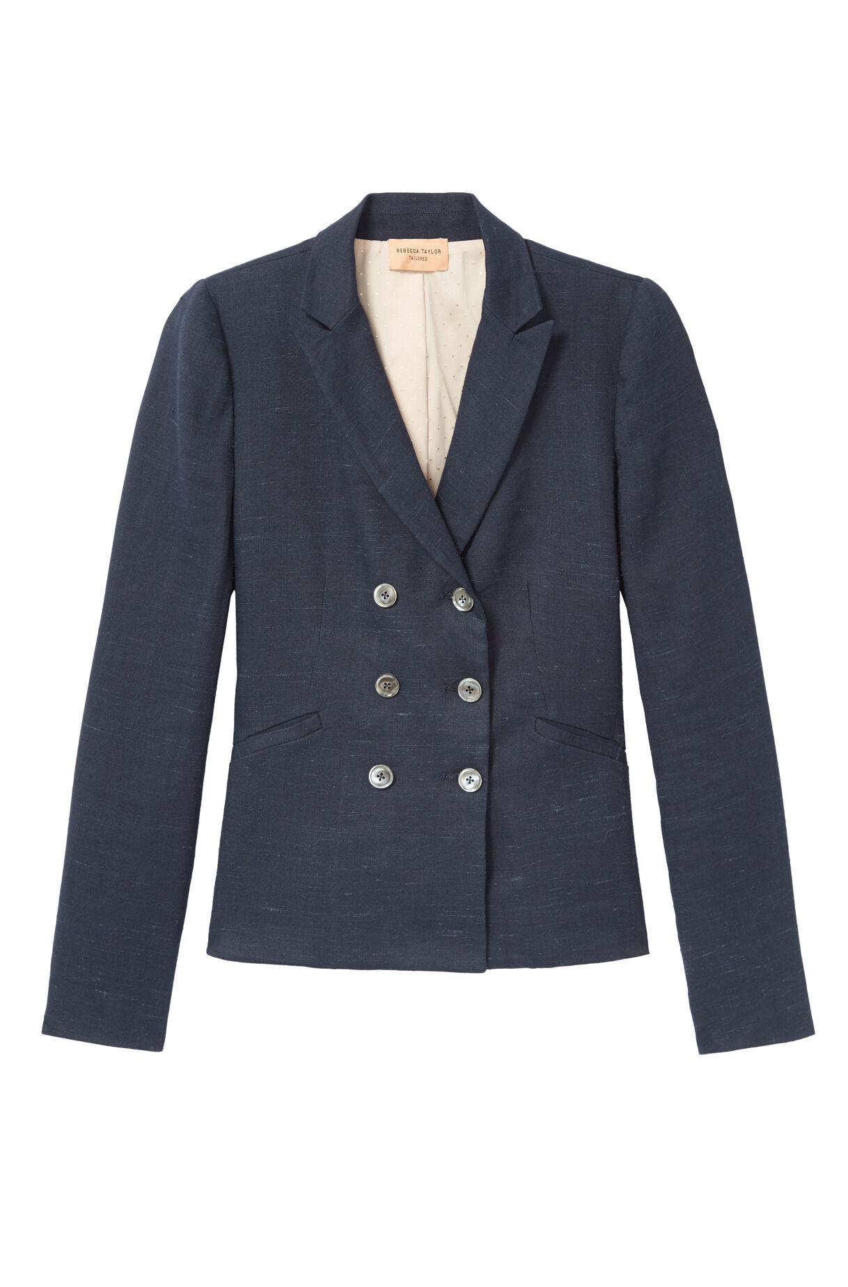21cf208c4b59d Tailored Stretch Linen Blend Jacket | Rebecca Taylor
