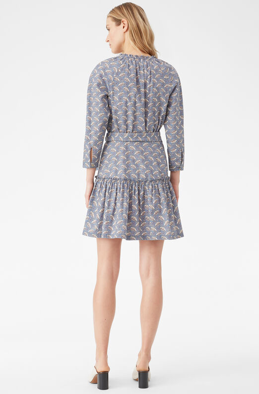La Vie Woodblock Lily Dress