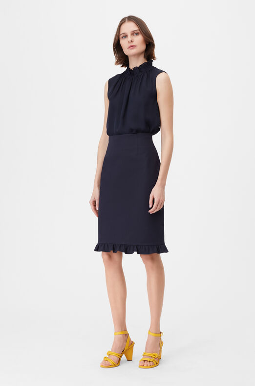 Tailored Stretch Modern Suiting Skirt