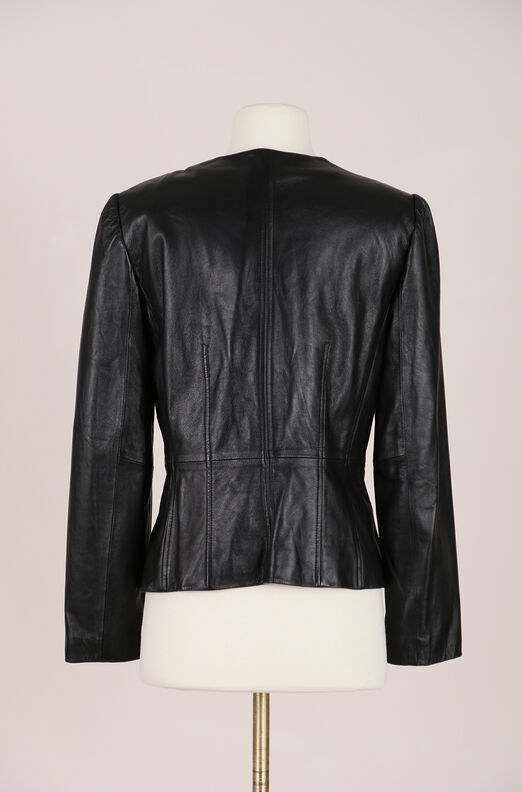 Recollect Scalloped Leather Jacket