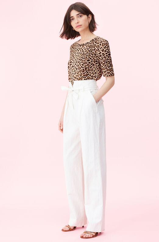 Spring Leopard Jersey Top