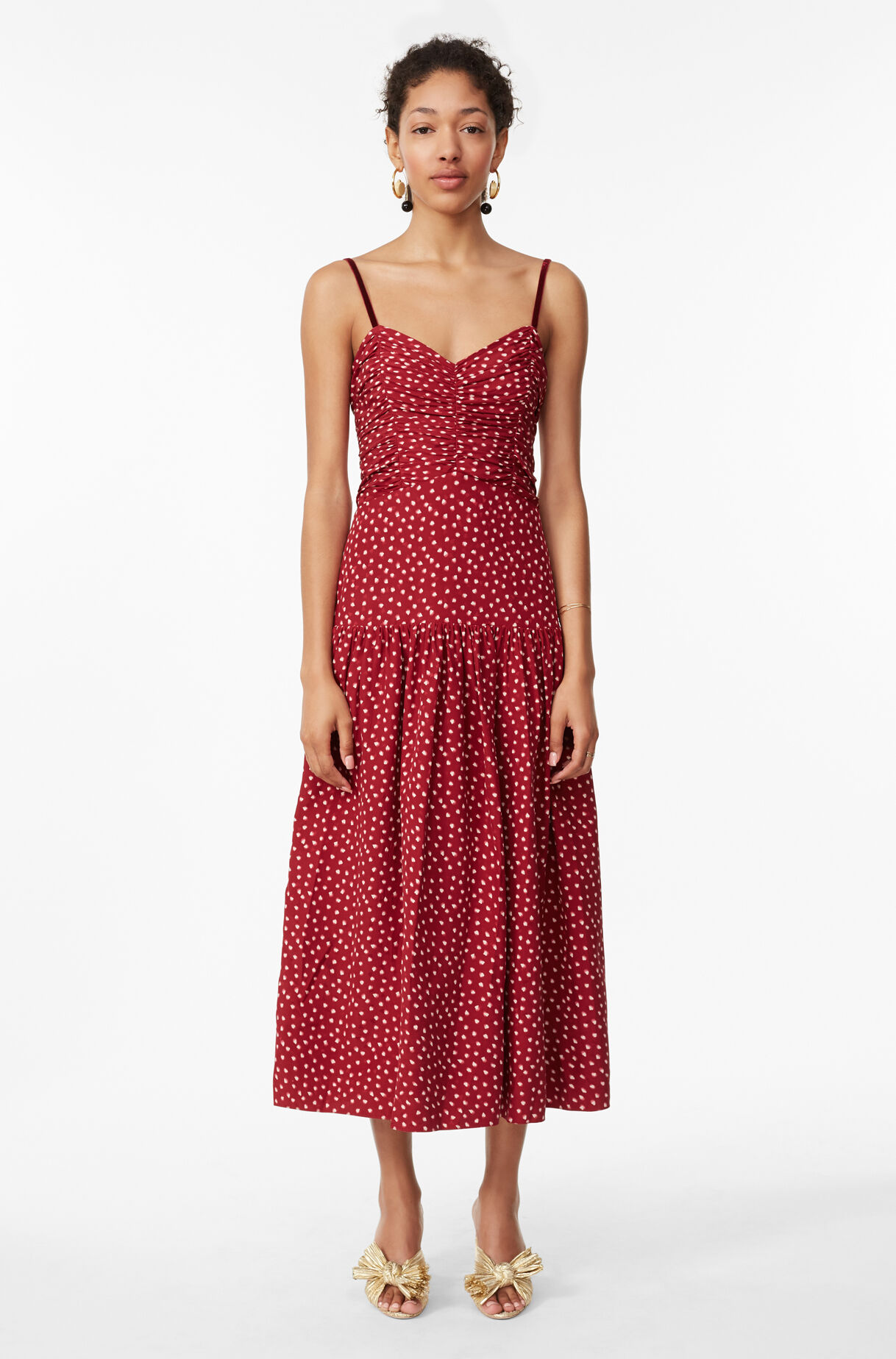 Blurry Heart Silk Tank Dress Rebecca Taylor