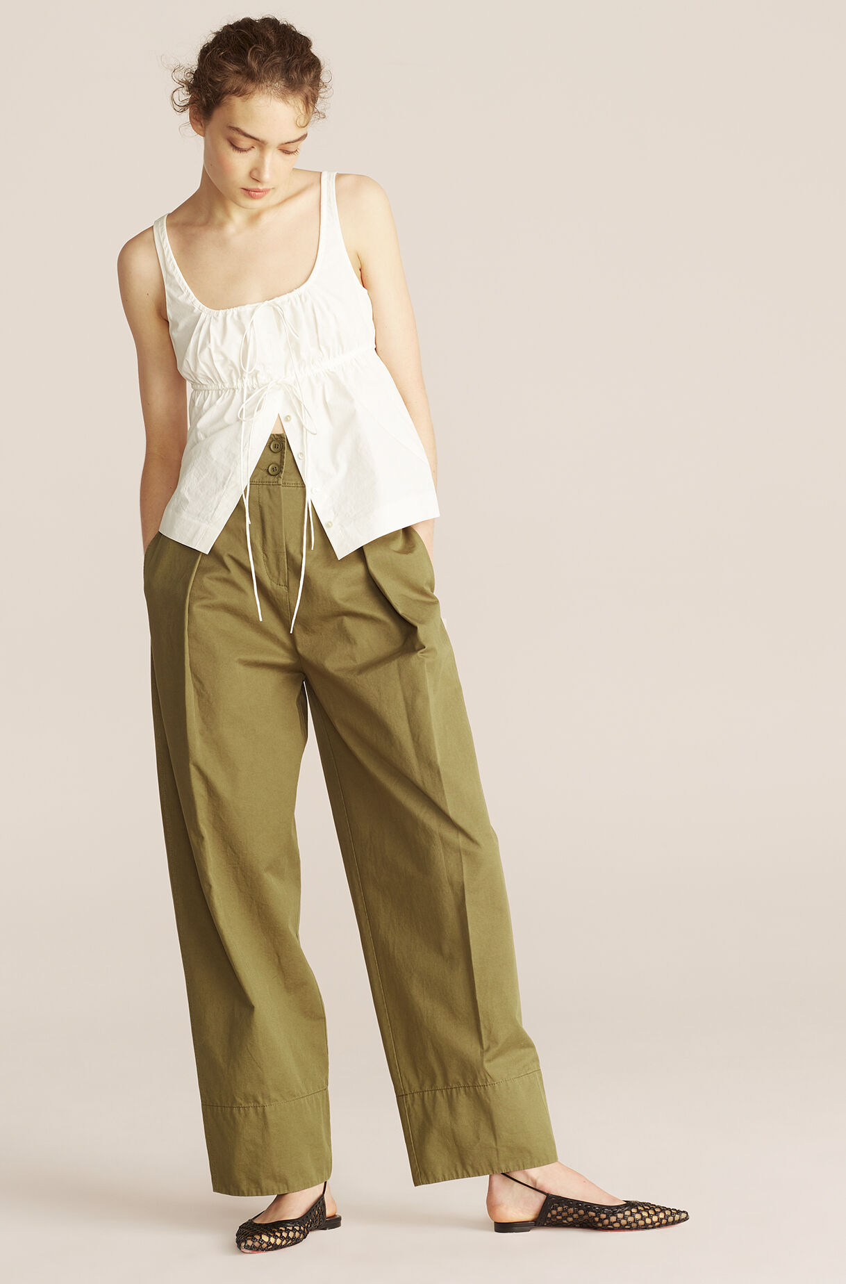 Casual Full Tapered Pant-Dark Olive