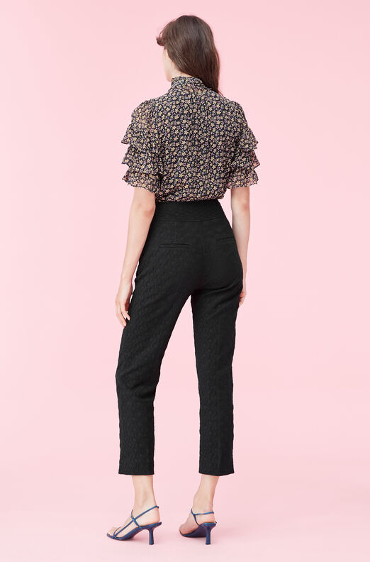 Textured Cotton Jacquard Pant