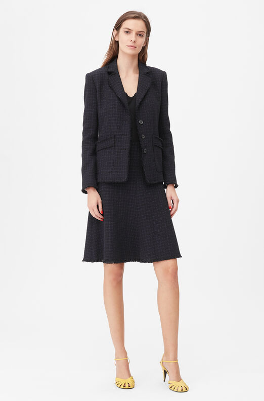 Tailored Midnight Tweed Jacket
