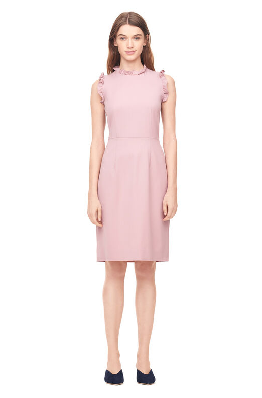 Spring Suiting Ruffle Dress - Dusty Rose