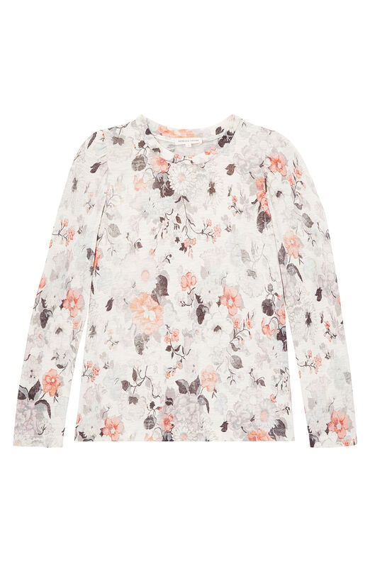 Lua Floral Print Jersey Tee