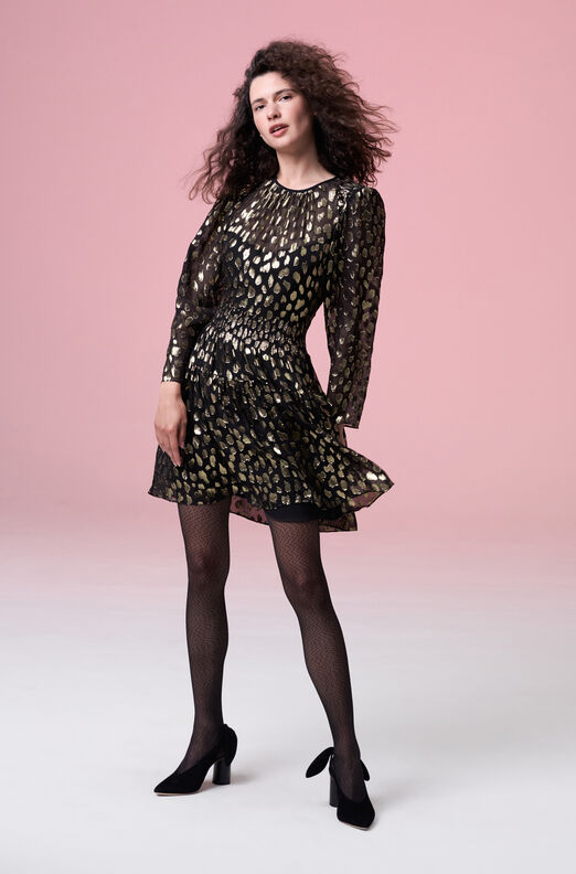 Leopard Metallic Dress
