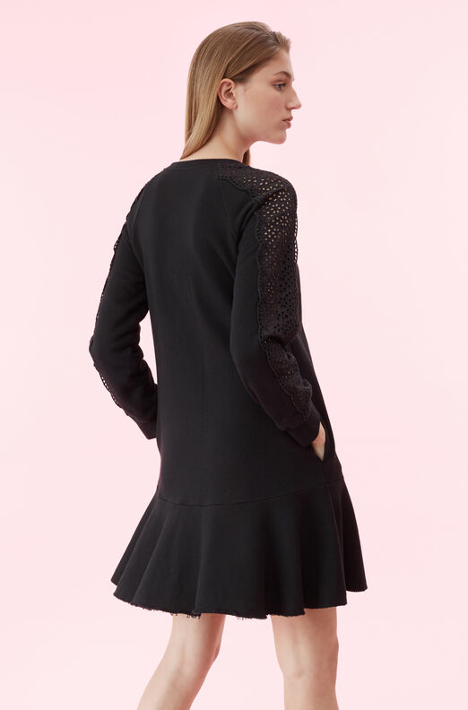 La Vie Eyelet Fleece Dress