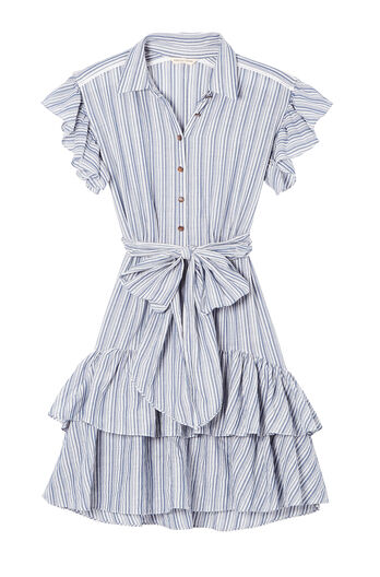 Yarn-Dyed Striped Dress