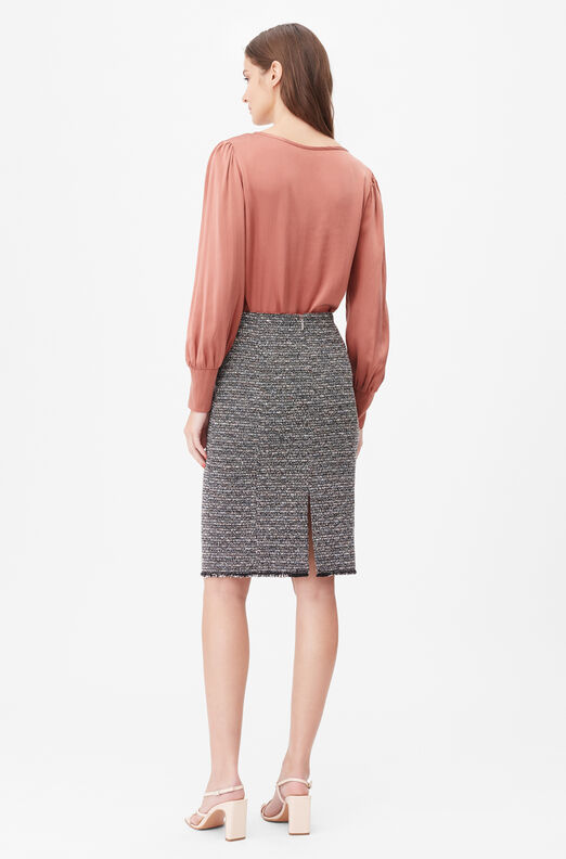 Tailored Static Tweed Pencil Skirt