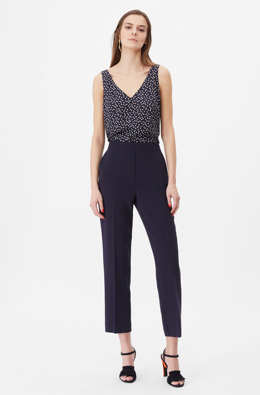 Tailored Pearl Dot Jacquard Tank