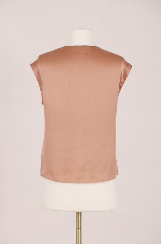Recollect Silk Charmeuse Knot Top