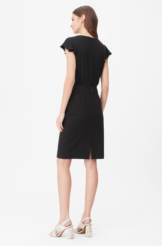 Tailored Silk & Stretch Modern Suiting Dress