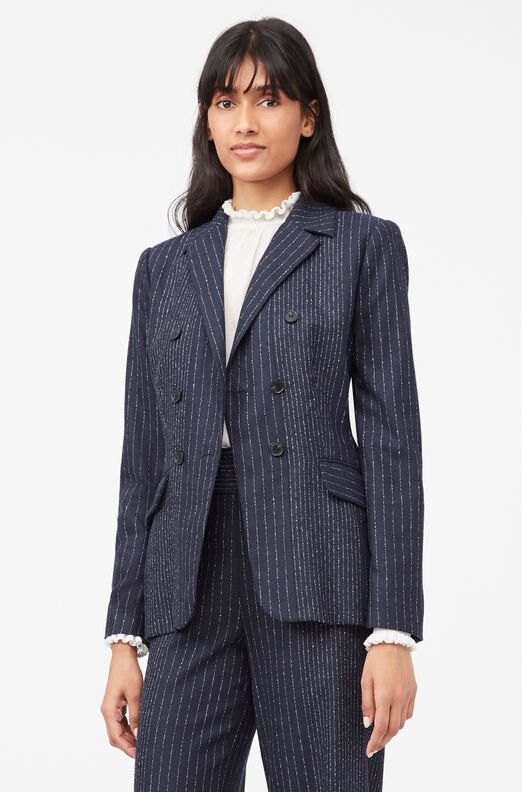 Tailored Mixed Pinstripe Suiting Blazer