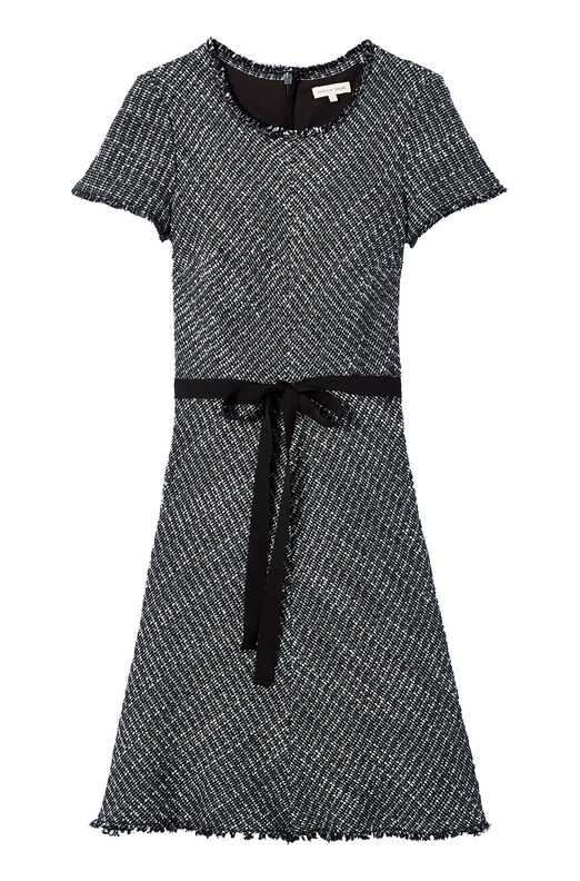 Black & White Tweed Dress