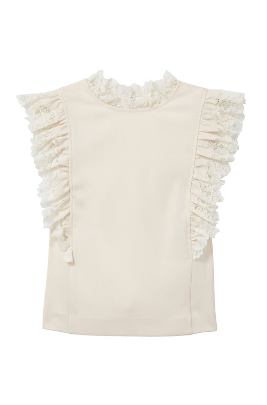 Crepe & Lace Top
