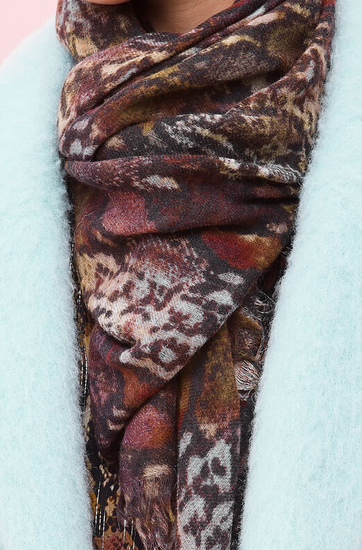 Watercolor Snake Wool Scarf