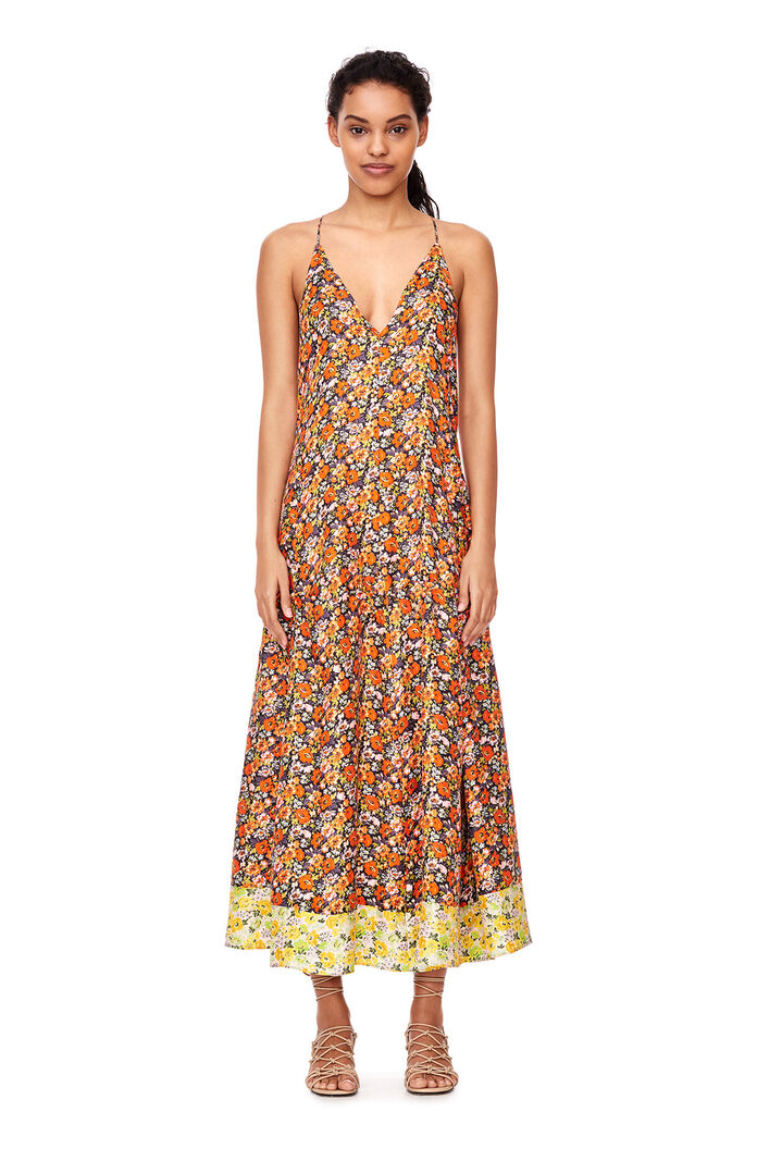 Sleeveless Moonlight Garden Maxi Dress