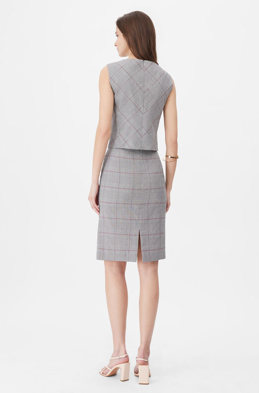 Tailored Summer Check Skirt
