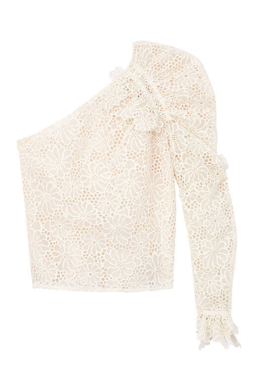 One-Shoulder Malorie Embroidered Top