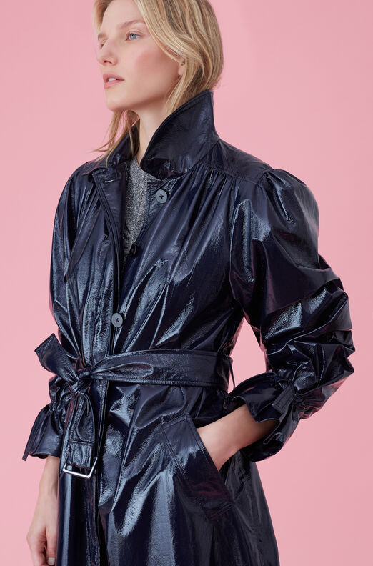 Laminated Trench Coat