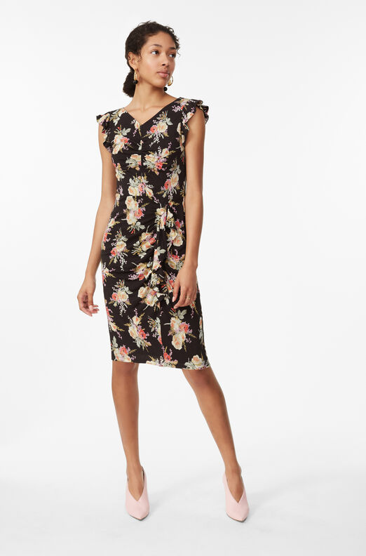 Bouquet Floral Jersey Dress