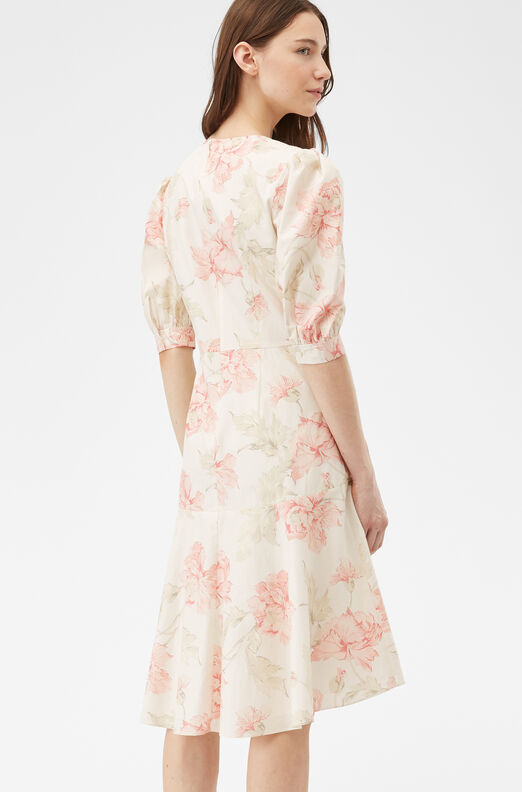 La Vie Peonies Poplin Dress