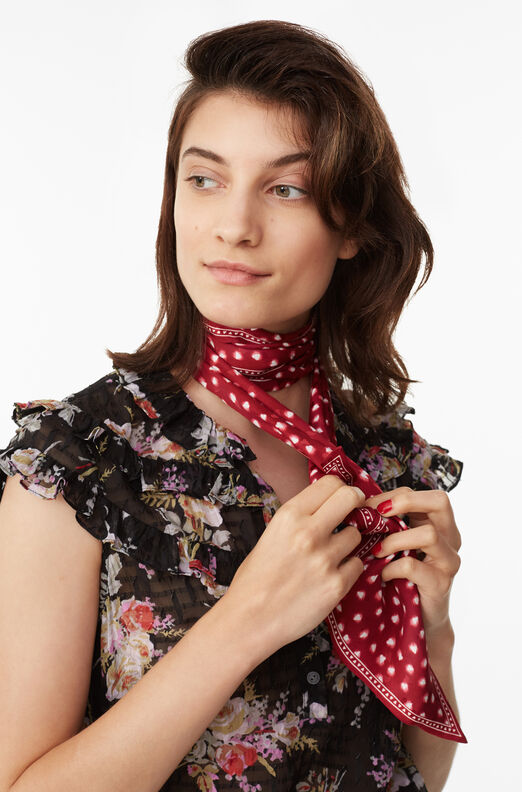 Blurry Heart Silk Scarf